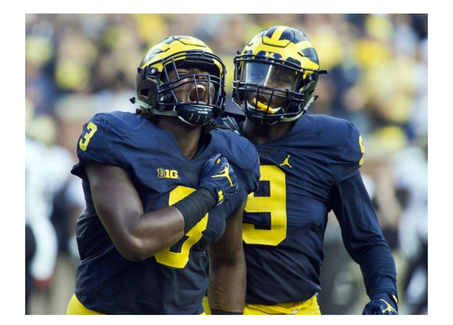 Detroit free press by Michael Johnson on Go Blue