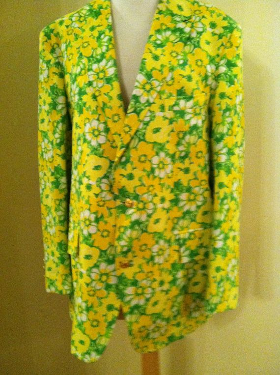 3a44ec896855d6 Designer Lilly Pulitzer Mens Stuff Palm Beach Sport Coat. $195.00, via Etsy.