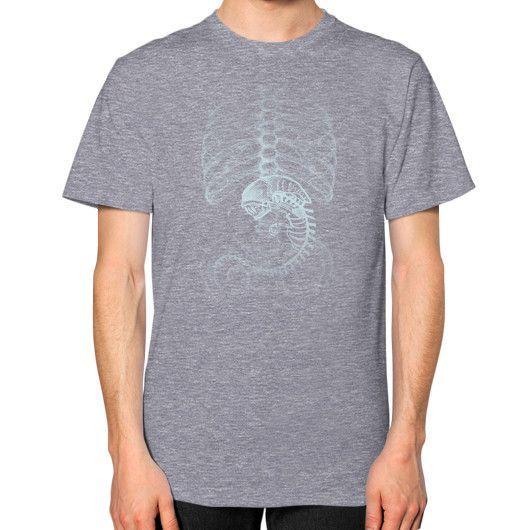 Creepy Pregnant Unisex T-Shirt (on man)