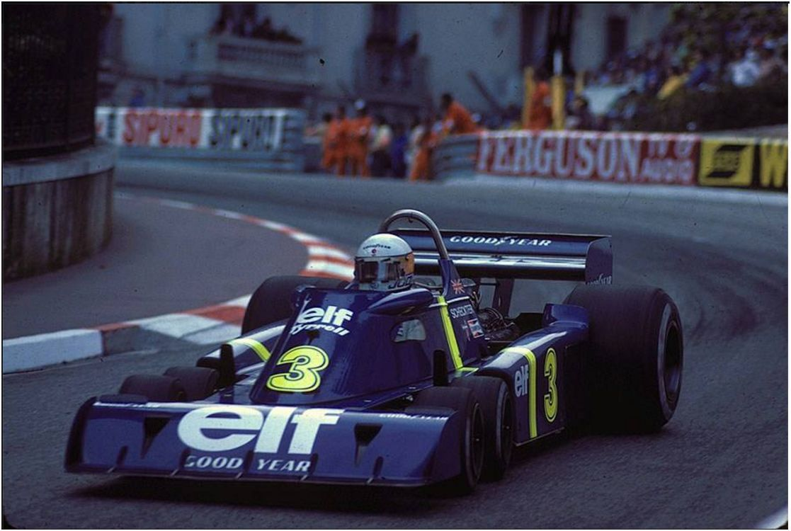 jody scheckter tyrrell ford grand prix de monaco 1976 f1 history legends f1 pinterest. Black Bedroom Furniture Sets. Home Design Ideas