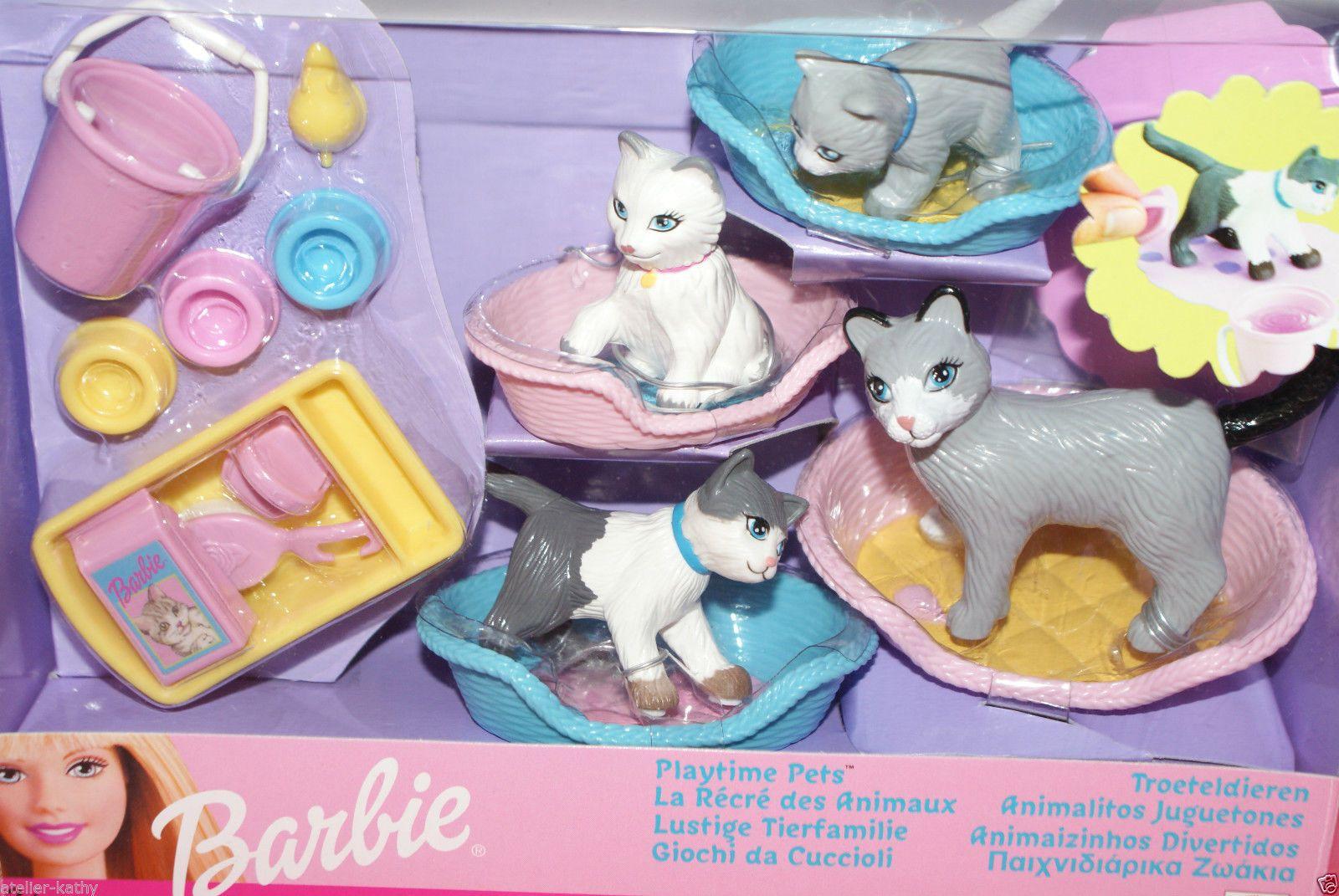 Barbie Playtime Pets Poezen Cats Nrfb Ebay Barbie Dog Barbie Toys Barbie Doll Set