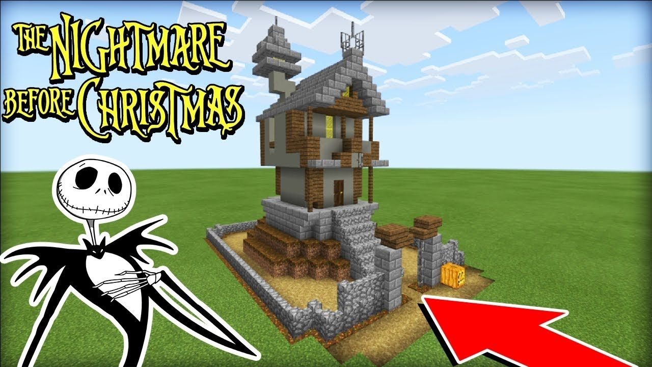 Minecraft Tutorial How To Make Jack Skellingtons House The Nightmare Before Christmas Youtube Minecraft Tutorial Minecraft Designs Disney Minecraft
