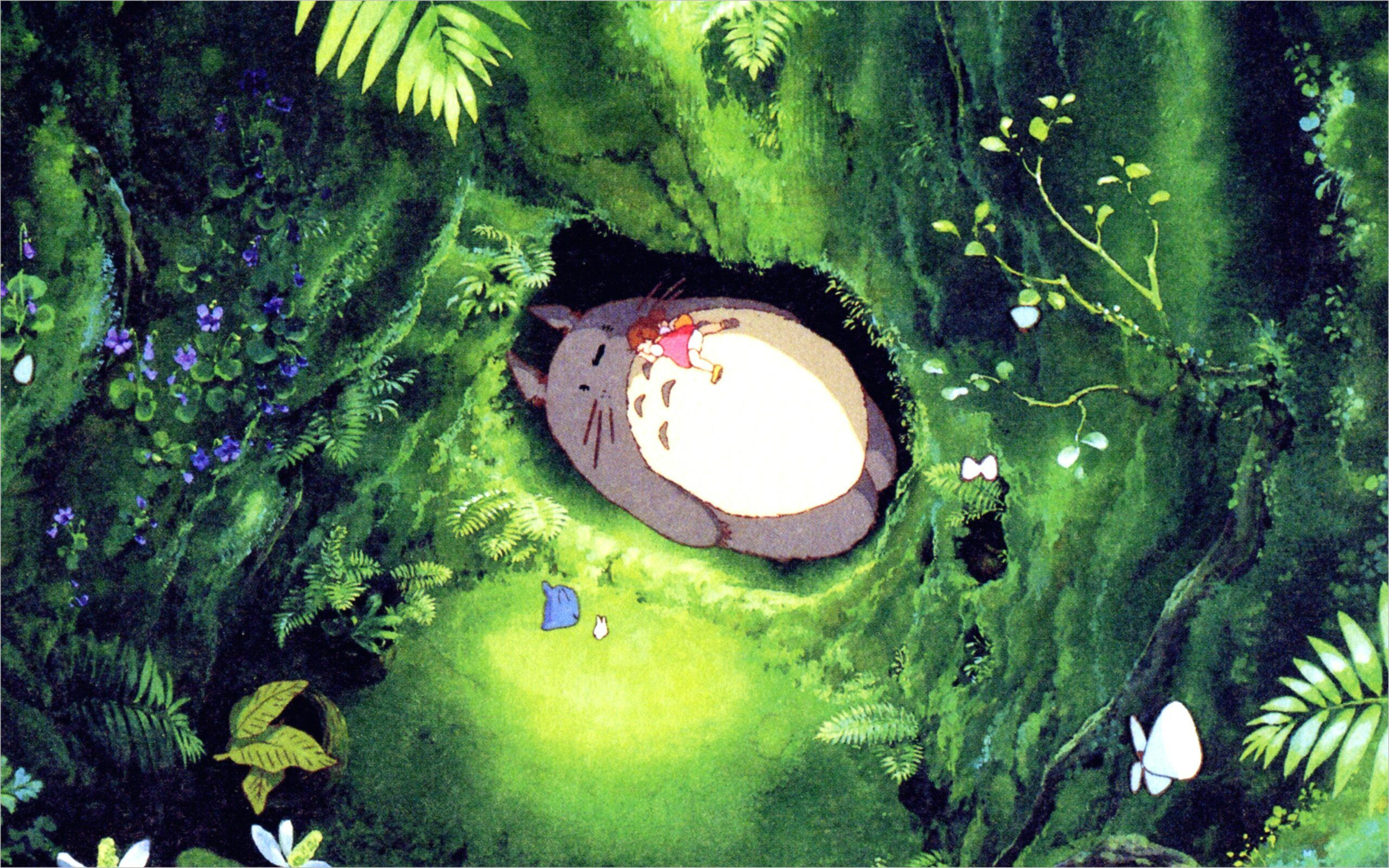Anime Wallpaper 4k Greeb In 2020 Totoro Art Anime Wallpaper Totoro