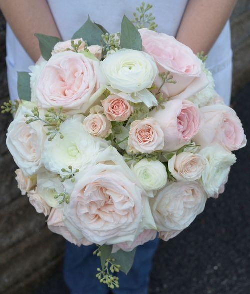 White Garden Rose Bouquet white and pink o'hara garden roses | florist | pinterest | garden