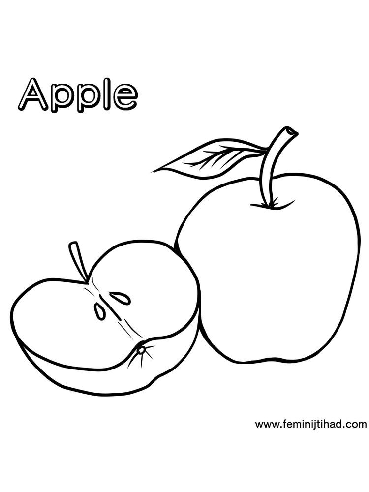 Apple Coloring Pages Free. Apples are one of the fruits