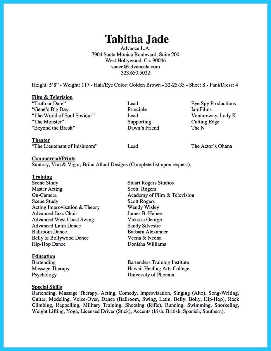 Acting Resume Builder Sekaijyukoryaku Net Great Acting Resume