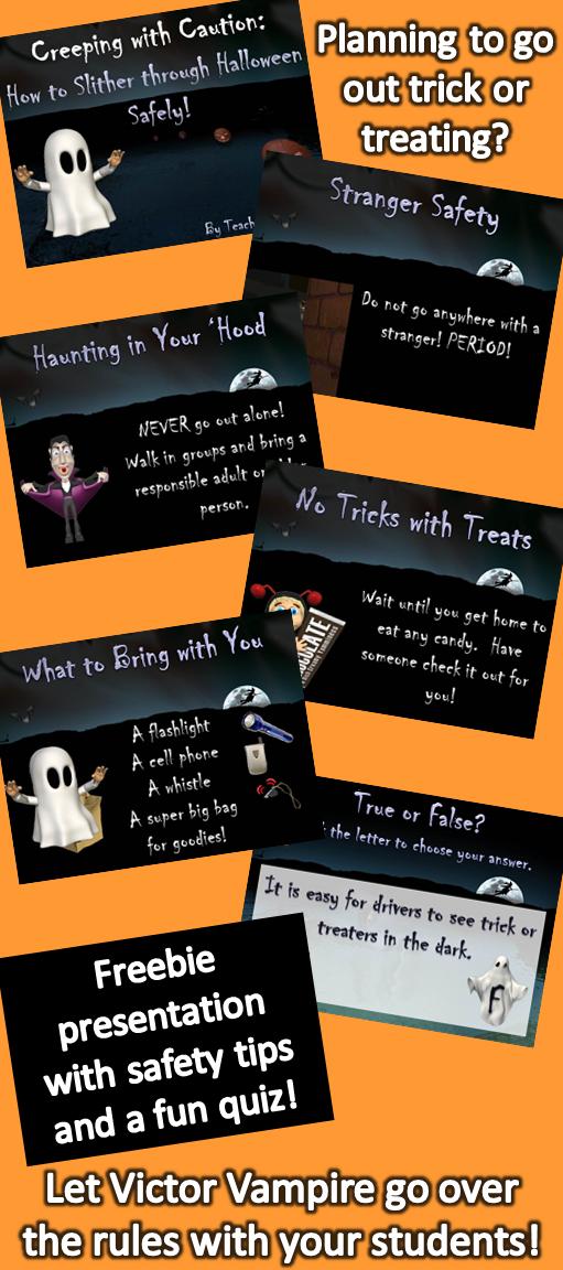 Halloween Safety Tips on PowerPoint Halloween safety