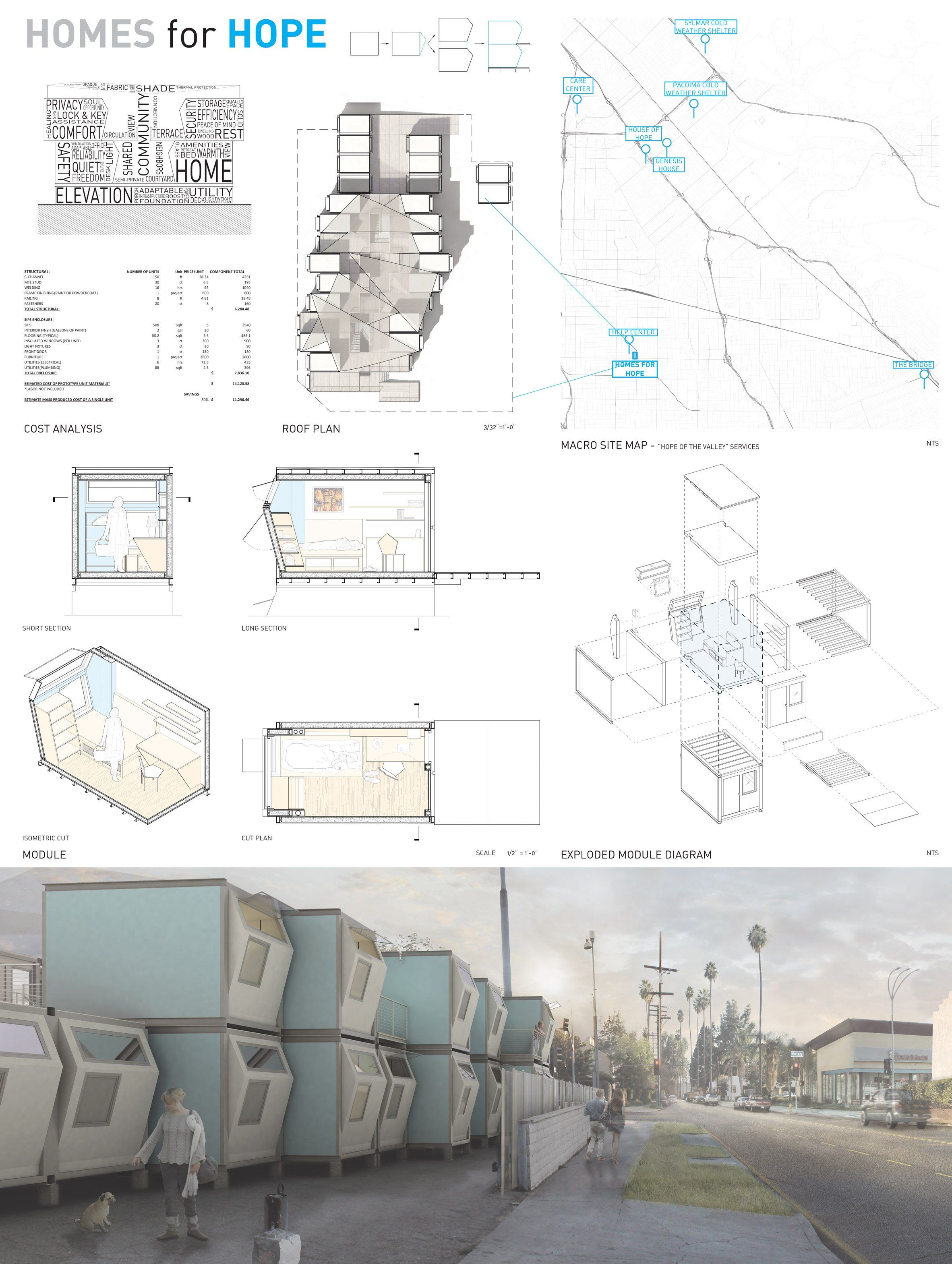 California Architecture Students Design Shelters For La S Growing Homeless Population Transitional House Transitional Bathroom Decor California Architecture