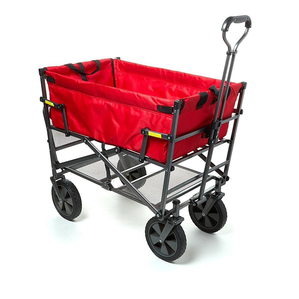 Mac Sports Double Decker Foldable Wagon with Shelf and