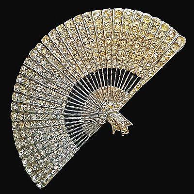 Vintage Fan Brooch Fan Jewelry Vintage Fans Vintage Brooch Jewelry