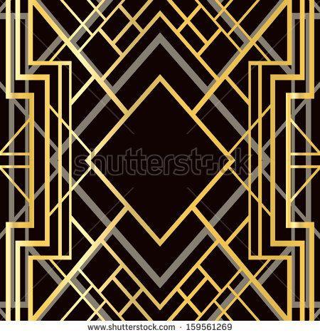 Amazing Art Deco Geometric Pattern 1920S Style By Smirnova Irina Download Free Architecture Designs Grimeyleaguecom