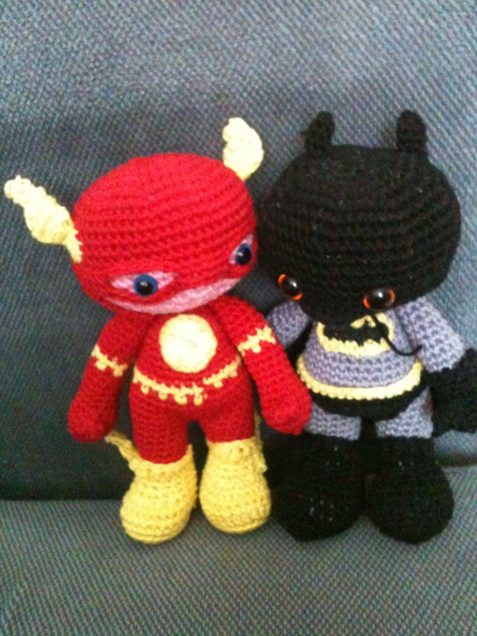 Amigurumis Flash y Batman, Chofisgurumis tejido a gancho, hecho a ...