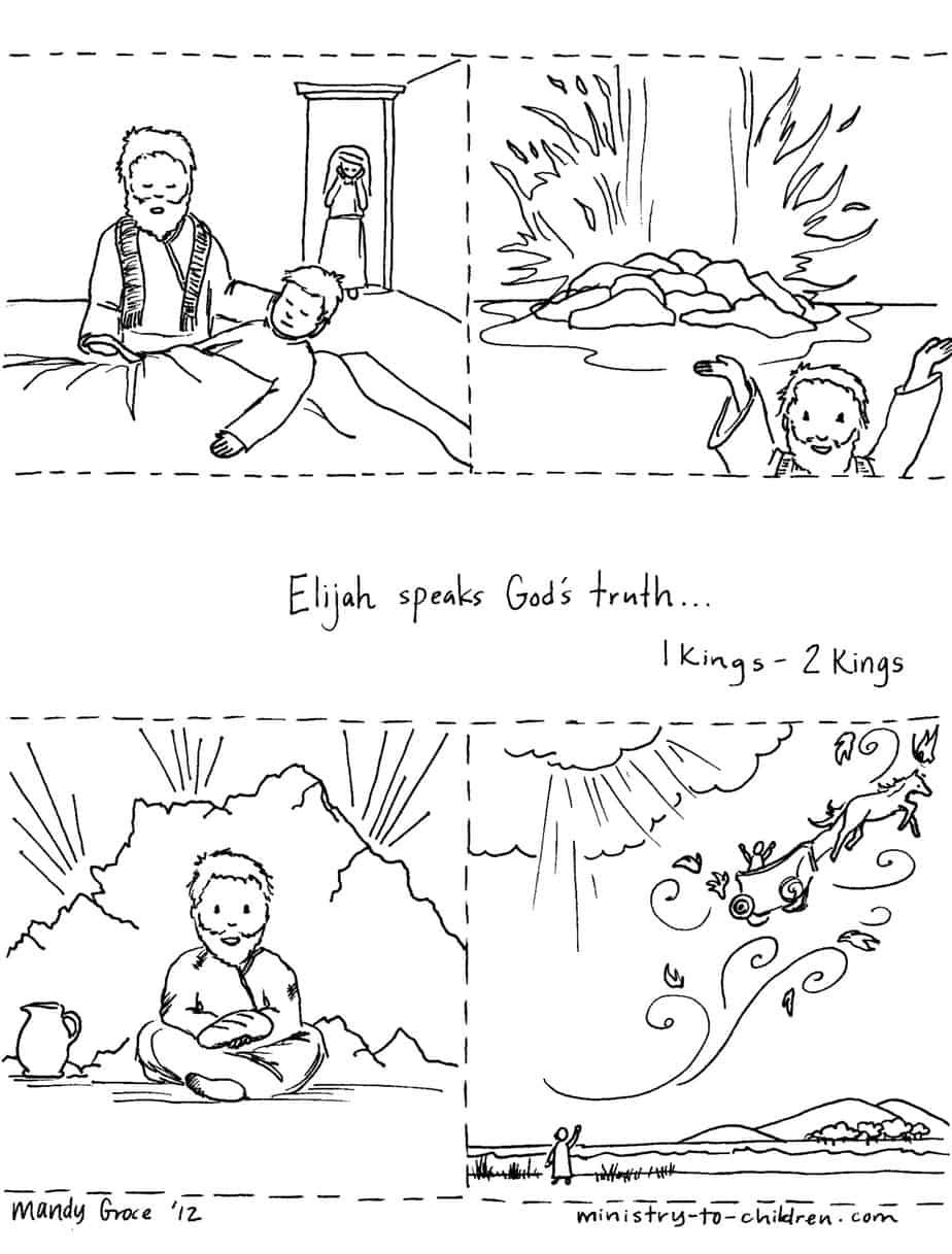 The Story Of Elijah Lesson Sunday School Coloring Pages Elijah