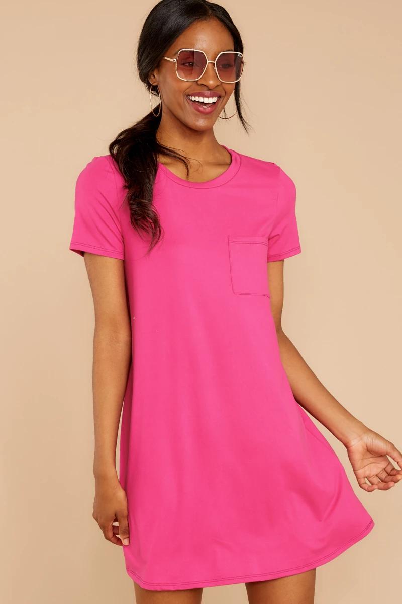 Sassy Pink Pocket Tee Dress Short Sleeve T Shirt Dress Dress 34 Red Dress Red Dress Boutique Pink T Shirt Dress Pretty White Lace Dresses [ 1200 x 800 Pixel ]