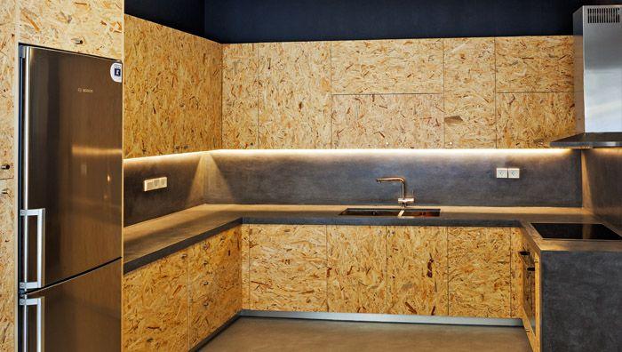 cuisine design en panneaux de particules brut osb d coration cuisine pinterest meilleures. Black Bedroom Furniture Sets. Home Design Ideas