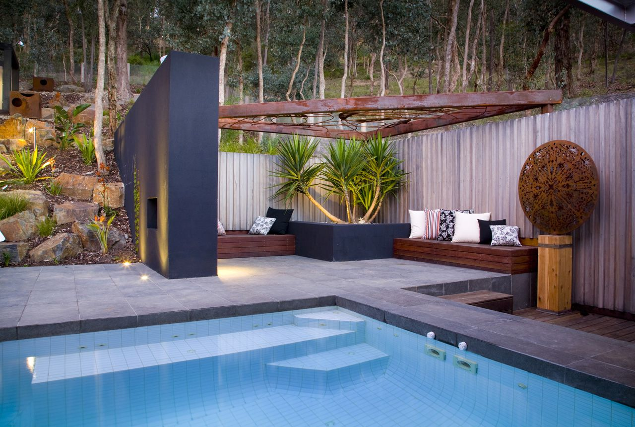 majestic contemporary backyard ideas. Contemporary Landscape Design at Warrandyte by TLC Pools  Landscapes mooit zithoekje met boom gecreeerd australia contemporary pools Google Search Out your back door
