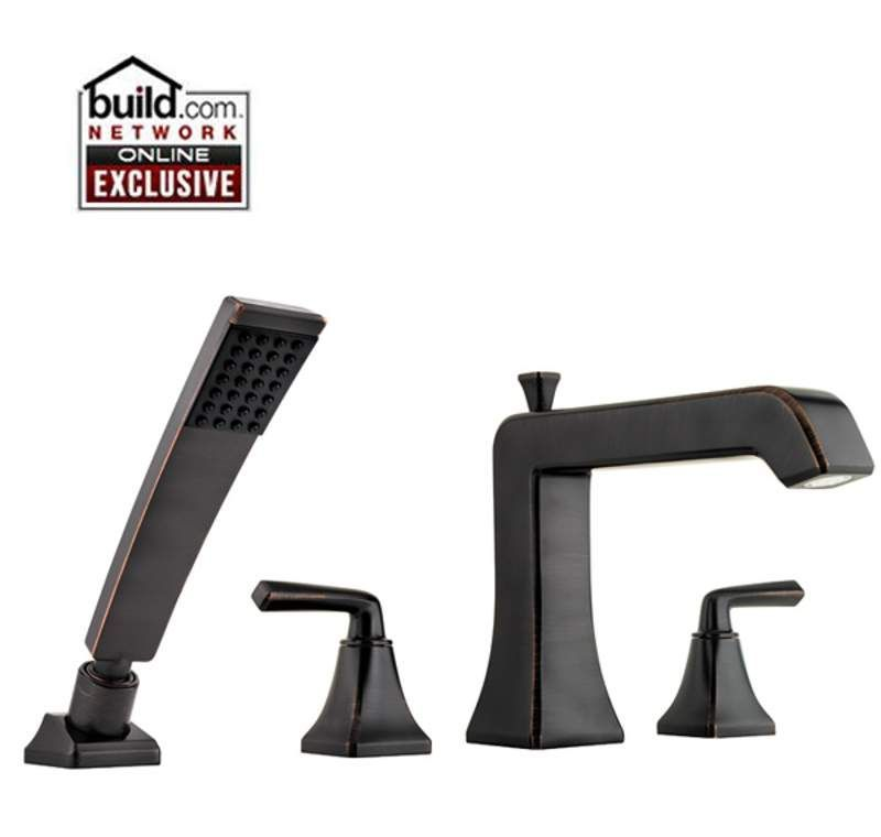 Pfister RT6 4FE Park Avenue Roman Tub Filler Faucet With Hand Shower Tuscan  Bronze Faucet