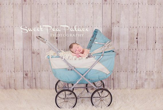 Instant Download Newborn Baby Child Photography Prop Digital Backdrop for Photographers Vintage Blue Carriage #backdropsforphotographs