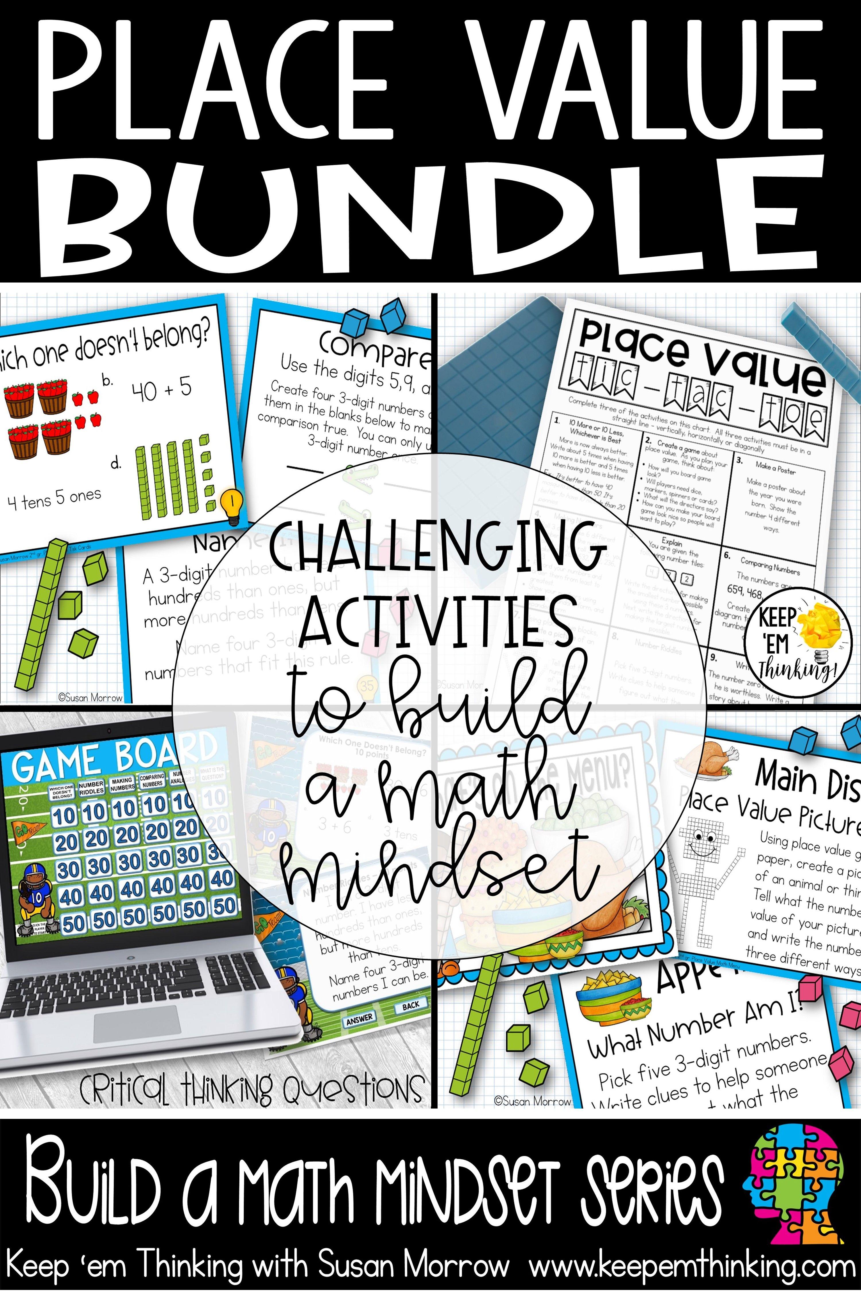 Place Value Bundle Challenging Place Value Task Cards