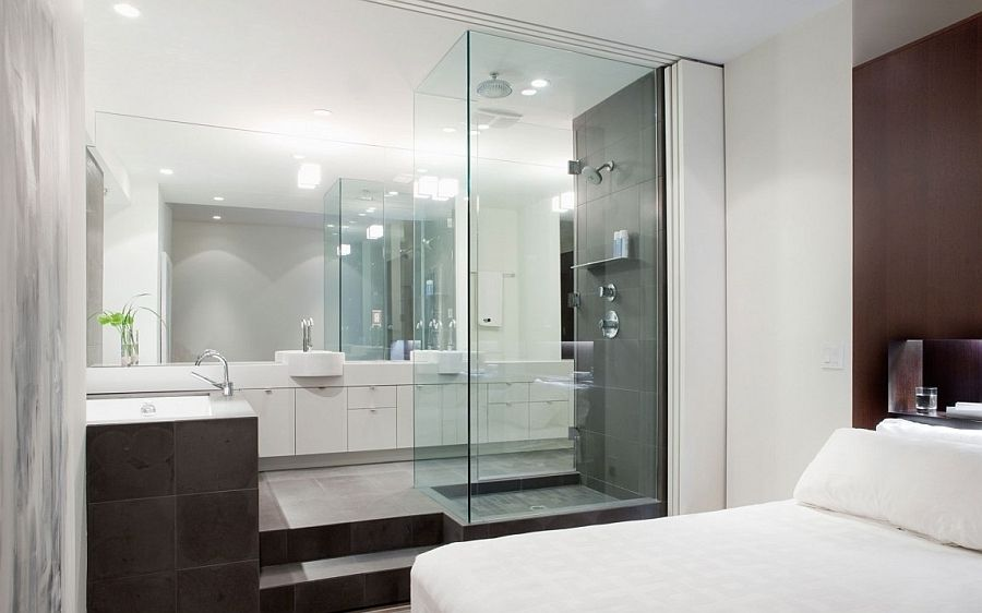 Go Through Our Latest Gallery Of 25 Sensuous Open Bathroom Concept For Master Bedrooms And Get Ins Open Bathroom Master Bathroom Design Amazing Bedroom Designs