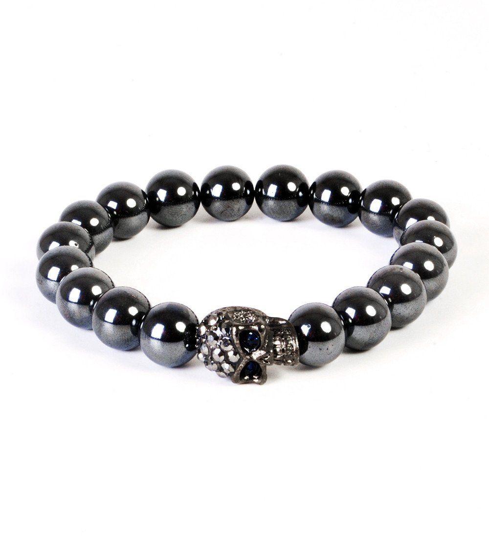 Sale Men/'s Silver Hematite Bracelet Mens Stretching Beaded Silver Hematite Bracelet Jewelry For Men Boyfriend Gift for Him  Jewelry for Men