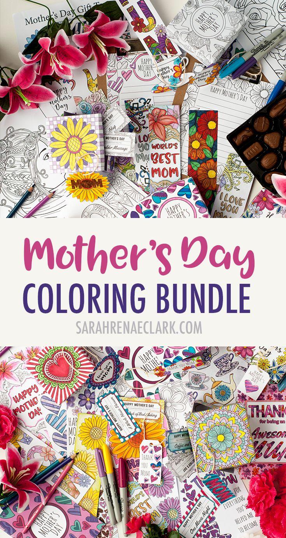 Mother\'s Day Coloring Bundle | Muttertag, Malvorlagen und ...