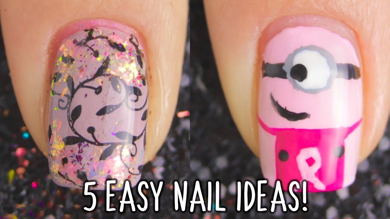 In This Video You Can Learn How To Make Or Paint 5 Simple Nails Art