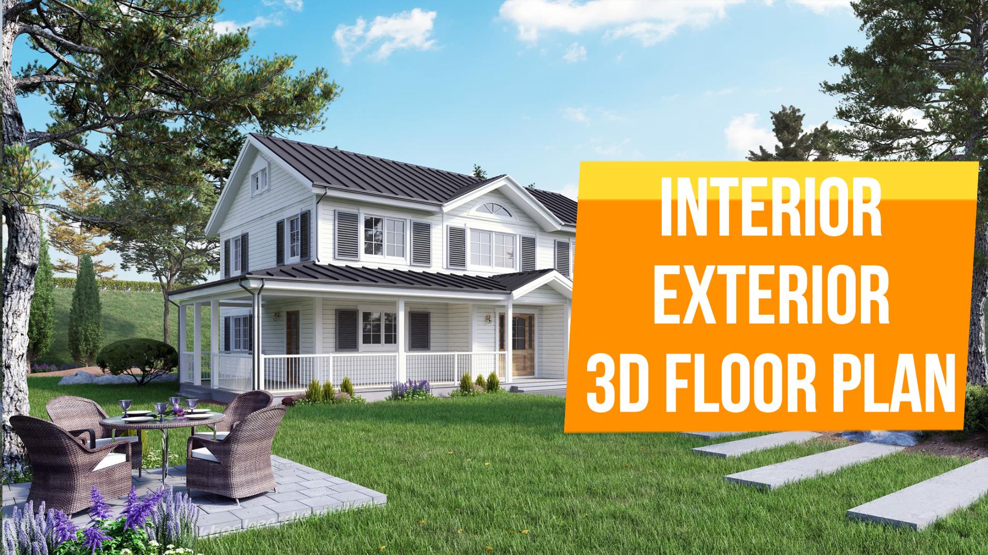 I Will Create Interior Exterior 3d Floor Plan Etc Floor Plans Exterior Interior And Exterior