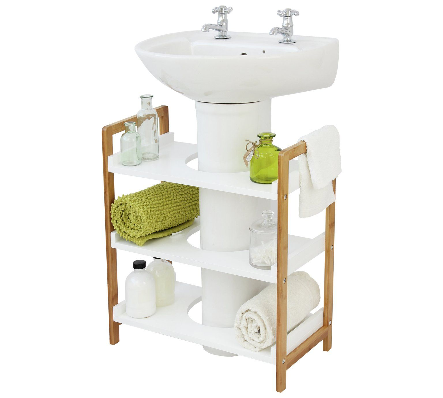 Buy Collection Undersink Bamboo Storage Unit Two Tone At Argos Co Uk Your Online Shop For Bathroom Shelves A Moveis Artesanais Decoracao Decoracao De Ferro