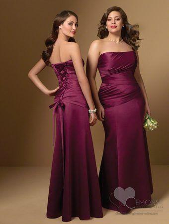 Vestidos de noche color uva para gorditas