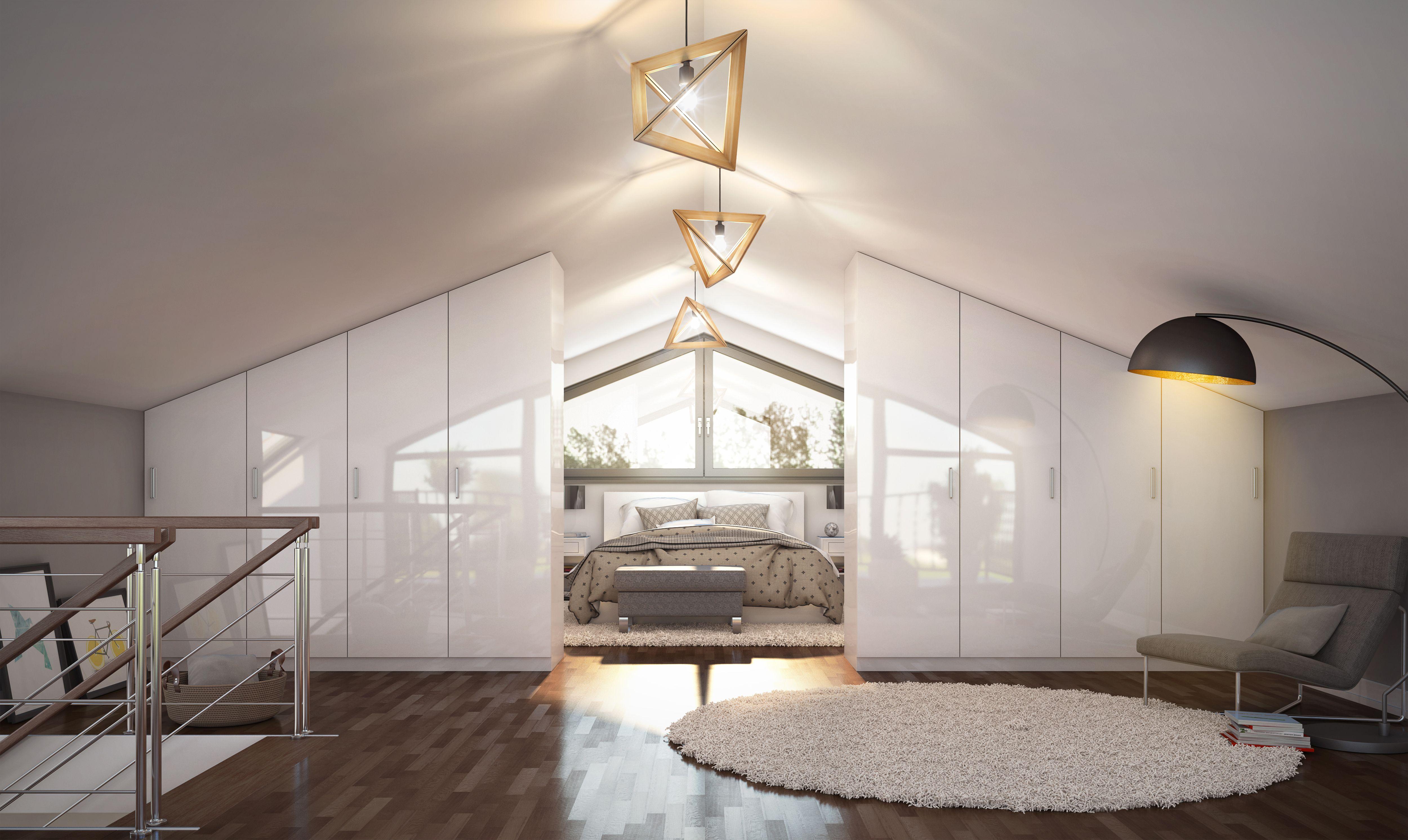 Das stilvolle Schlafzimmer befindet sich im Obergeschoss und hat ...