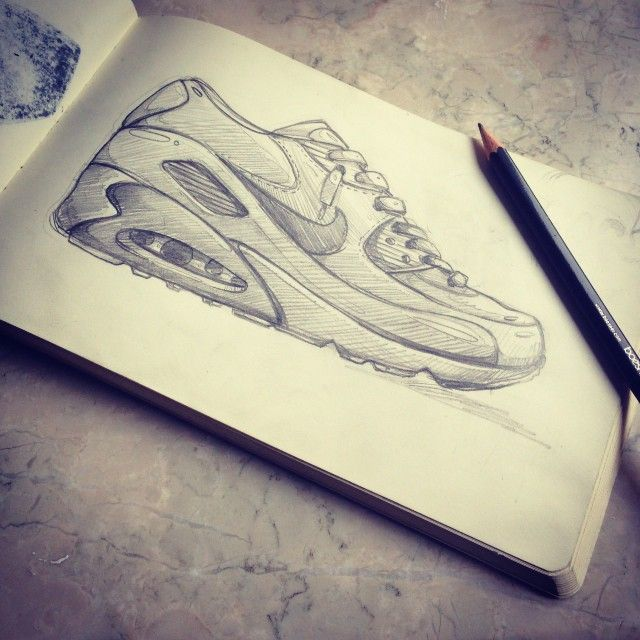 arsek | #nike #airmax #sketch #drawing #airmax90 #pencil