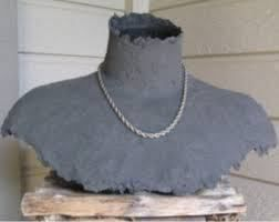 Paper Mache Jewellery Display Bust Jewellery Display Necklace Display Jewelry