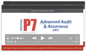 ACCA P7 free lectures, course notes, exam tips | ACCA VIDEOS