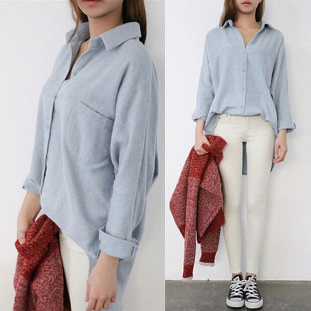 Fashion loose leisure blouse Cute Kawaii Harajuku Fashion Clothing - clothing sponsorship
