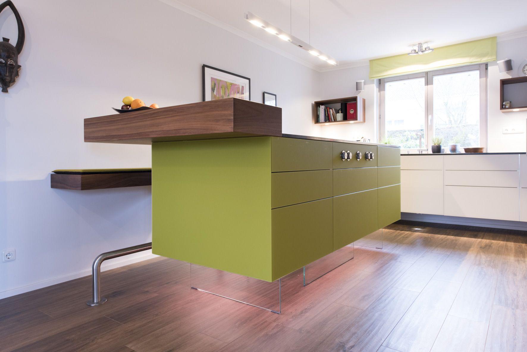 Kücheninsel Ideen ~ Eine schwebende kücheninsel loft küche ideen einrichtung