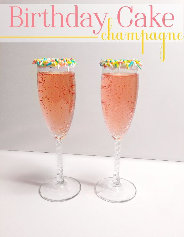 Birthday Cake Champagne Cocktail