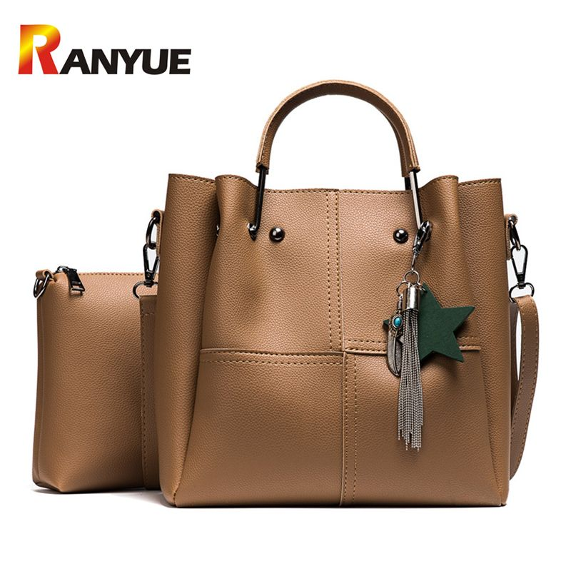 90f570b6e360 Fashion Star Women Composite Bag Set Designer PU Leather Shoulder Bag Women  Handbags Big Capacity Casual
