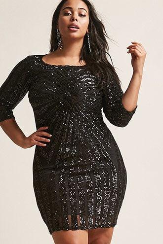 c3a6e039d3d Plus Size Sequin Bodycon Dress