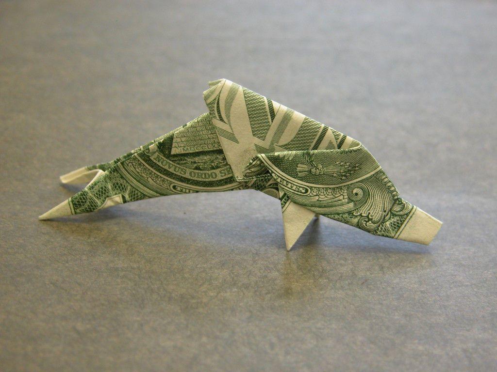 Dolphin money origami sea animal fish dollar bill art real dolphin money origami sea animal fish dollar bill art real cash gift jeuxipadfo Choice Image