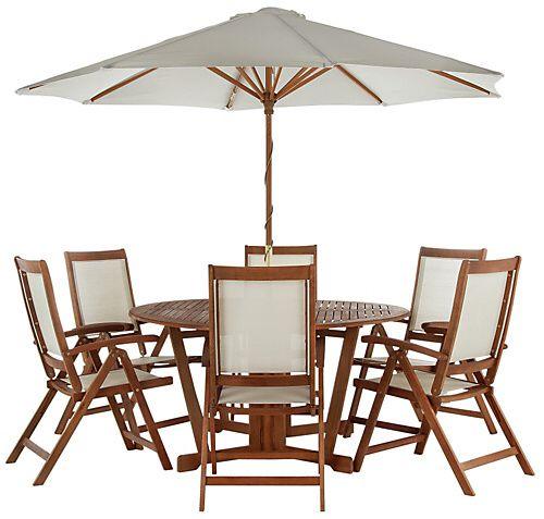 Collection Albury 6 Seater Patio Set Patio Garden Table 400 x 300