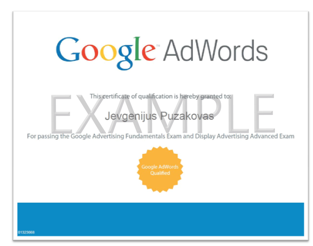 Adwords certificate example questions adwords pinterest adwords certificate example questions fandeluxe Images