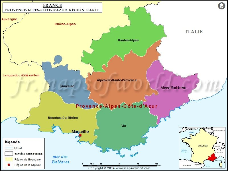Carte De Provence Alpes Cote D Azur With Images