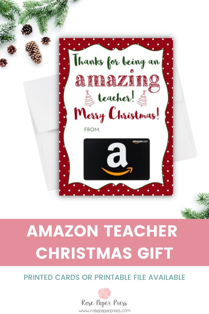 Amazon Christmas Teacher Gift Card Holder Rose Paper Press Teacher Gift Card Amazon Christmas Gifts Teacher Christmas Gifts