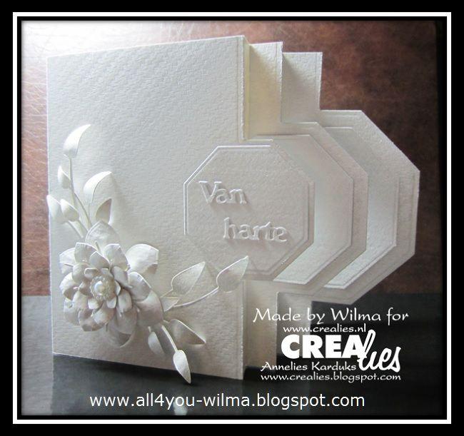 Vandaag op ons blog de uitleg van Wilma hoe je deze moeilijk ogende kaart op een makkelijke manier kunt maken: http://www.crealies.blogspot.nl/20…/…/tutorial-tips-day.html & https://www.crealies.nl/detail/1506431/16-03-10-wilma.htm Crealies items: Crealies Create A Card no. 24 Crea-Nest-Lies XXL no. 18 Creative Shapes no. 11 Uno no. 23 Bloem 14/Flower 14 Set of 3 stansen no. 23 Bloemen 14/Flowers 14 Double Fun no. 12