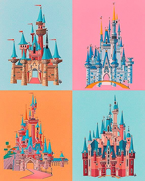 Photo of Disney Parks Castles Inspired Print