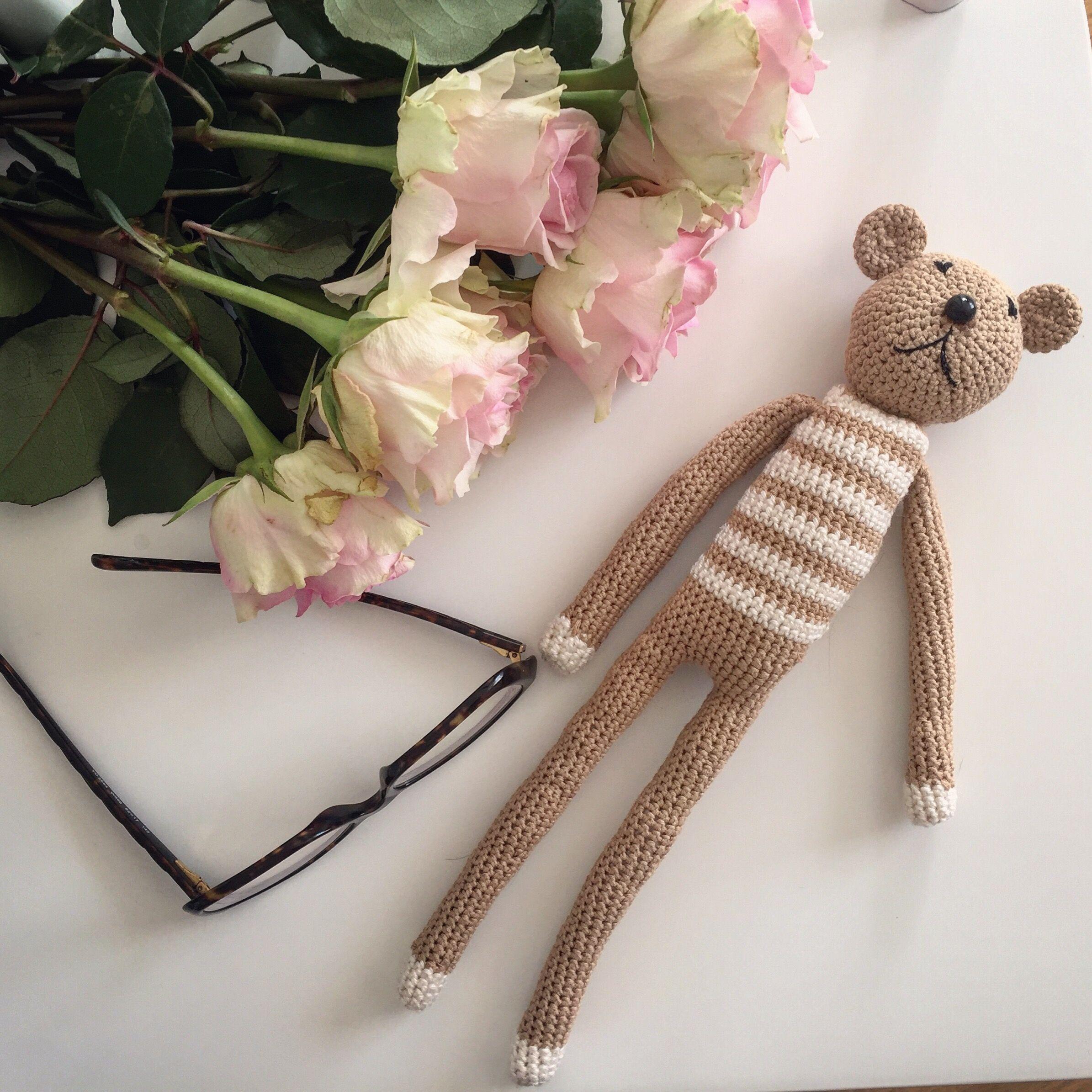 Crocheted baby bear