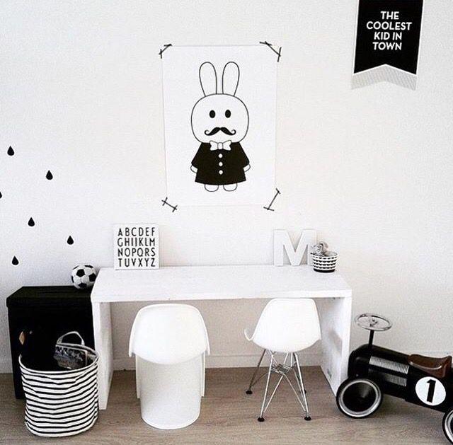 Chambre enfant noir et blanc natamelie natamelie pinterest enfant chambre enfant et deco - Deco noir et blanc chambre ...