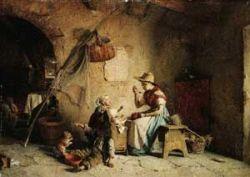 Il capolavoro ritrovato di Gaetano Chierici, intitolato «La Pappa»,
