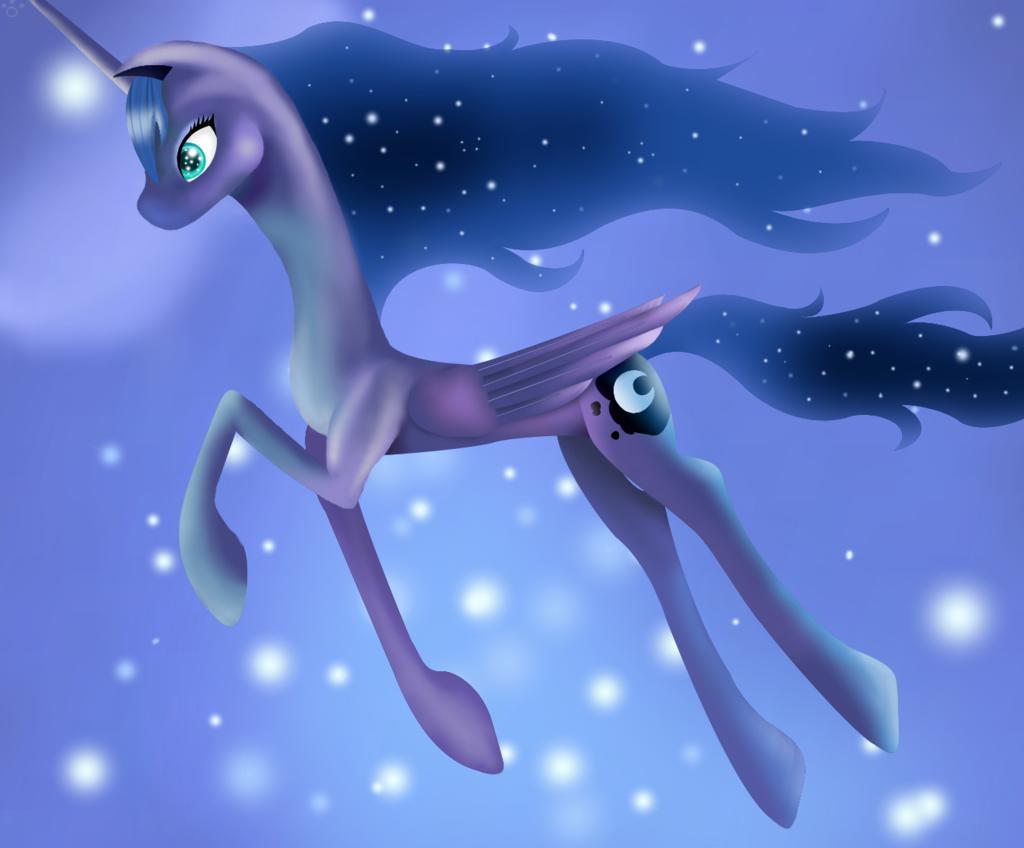 Luna in the dreamscape by freyiejj.deviantart.com on @DeviantArt